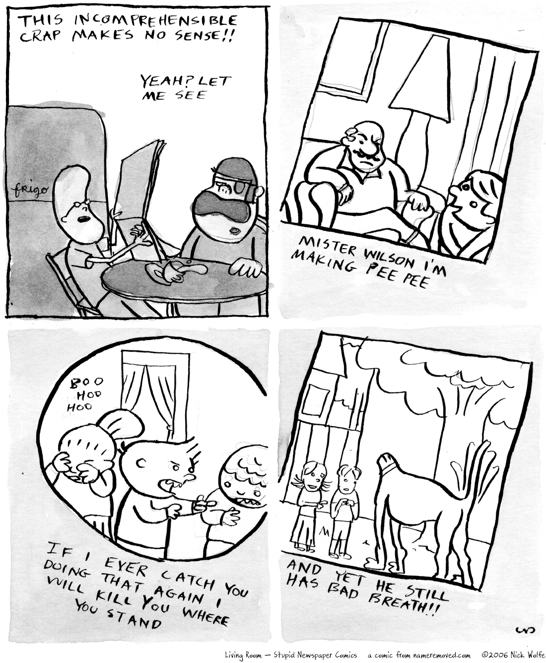 Living Room - Stupid Newspaper Comics