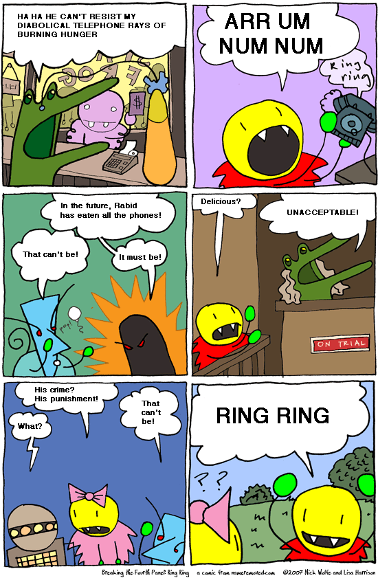 Breaking the Fourth Panel: Ring Ring