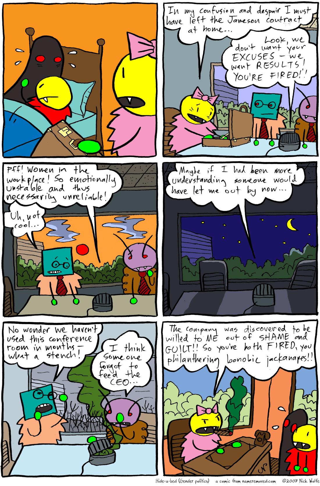 Hide-a-bed (Gender politics)