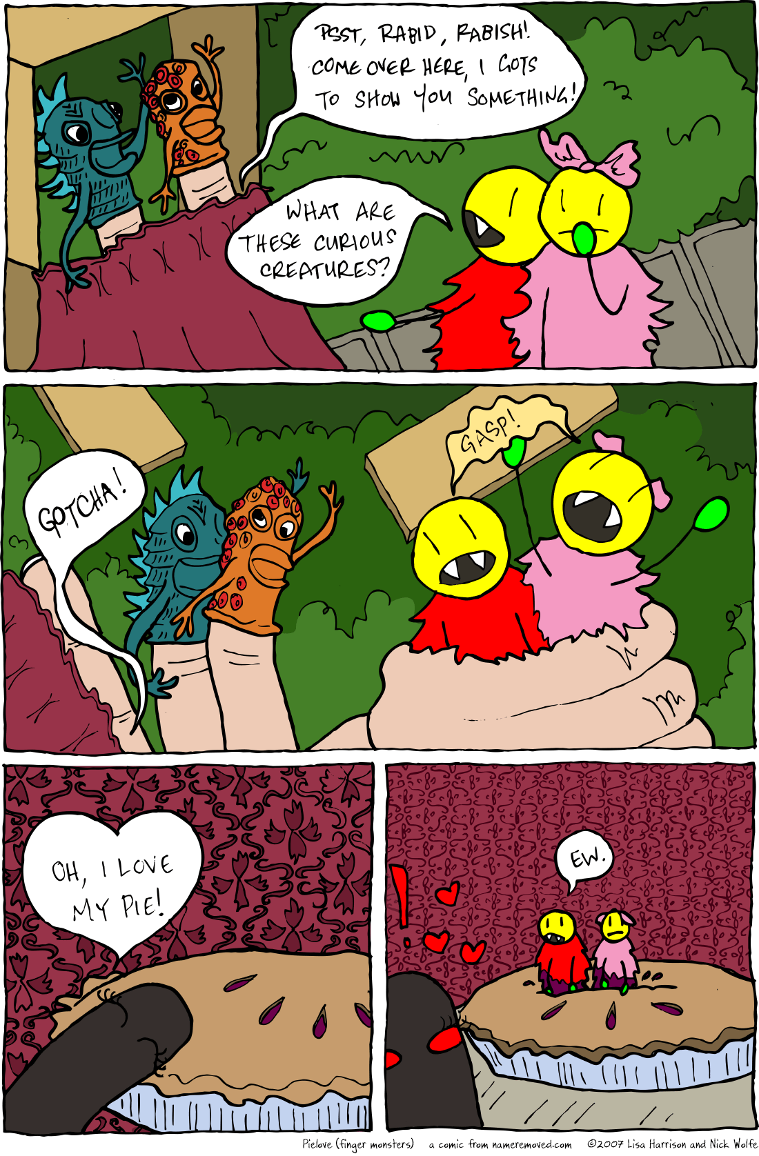 Pielove (finger monsters)