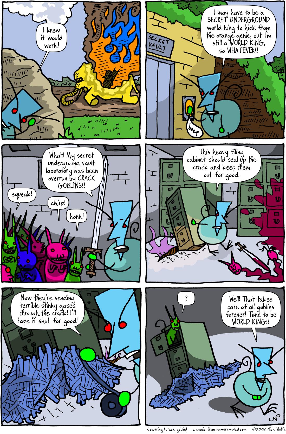 Cowering (crack goblin)