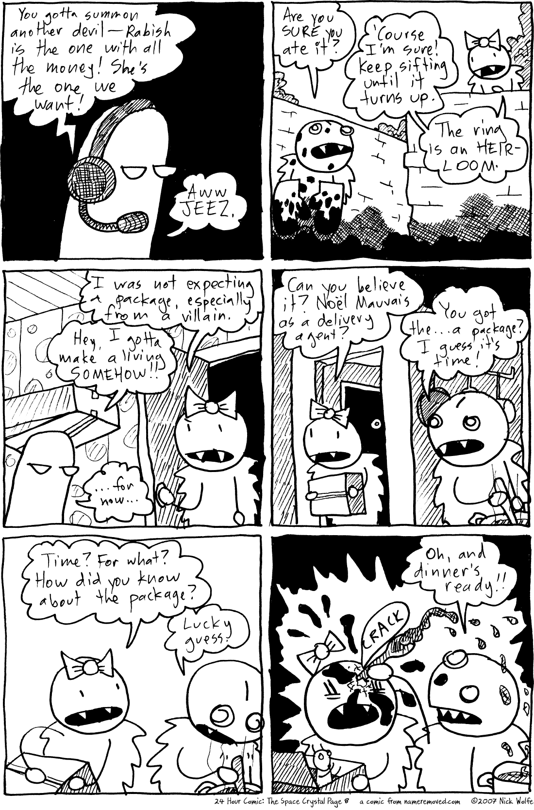24 Hour Comic: The Space Crystal Page 8