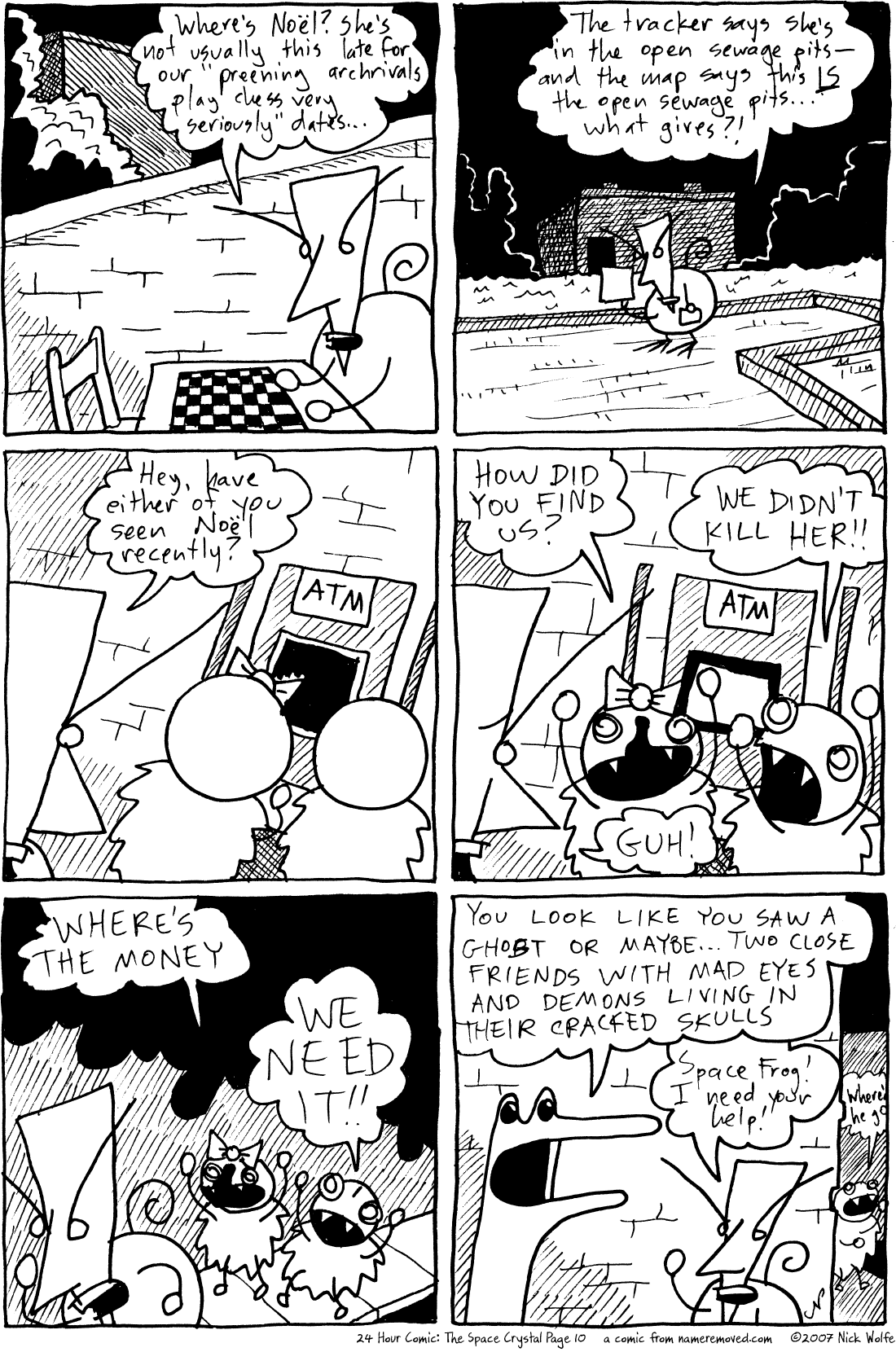 24 Hour Comic: The Space Crystal Page 10