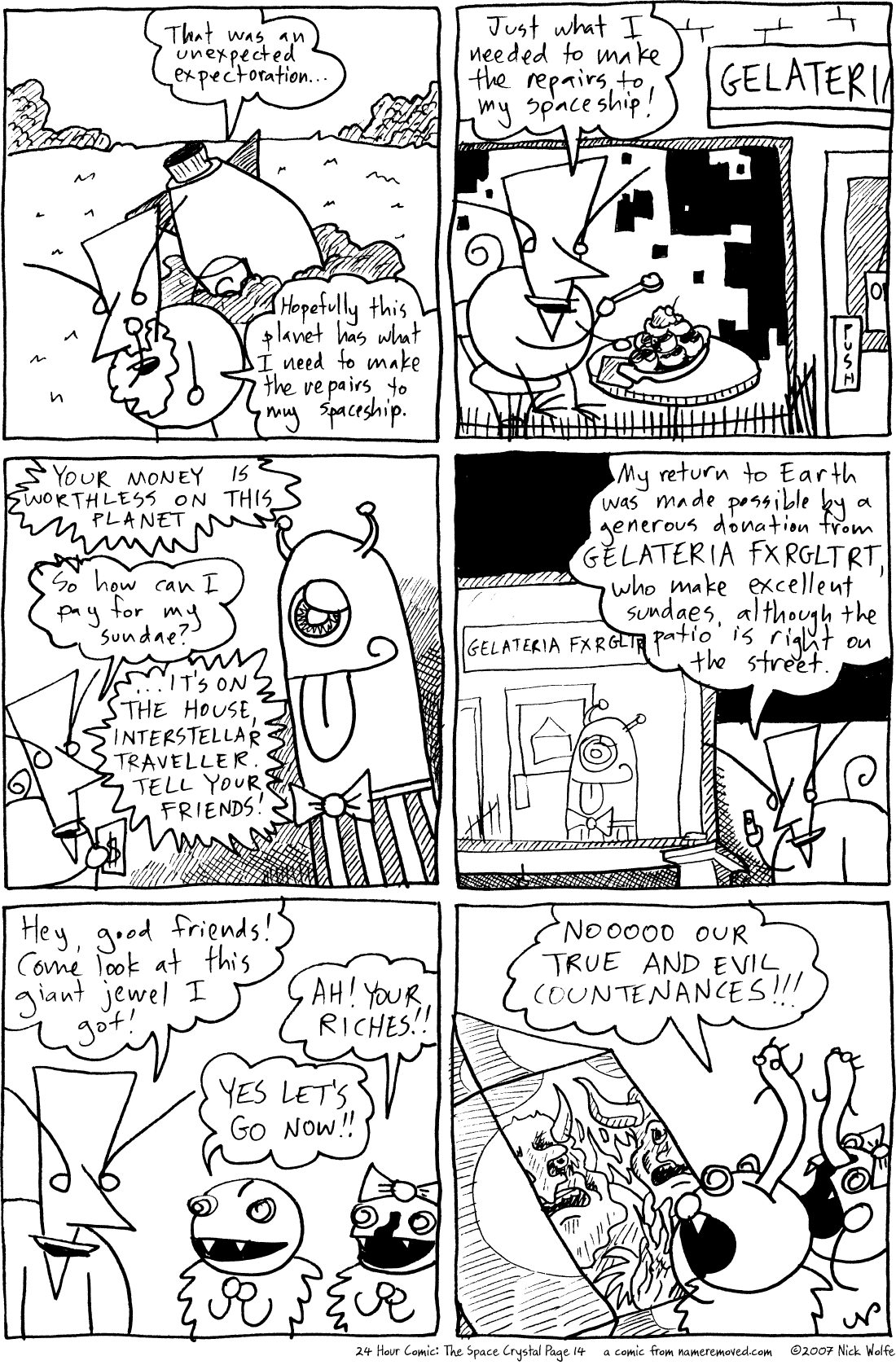 24 Hour Comic: The Space Crystal Page 14