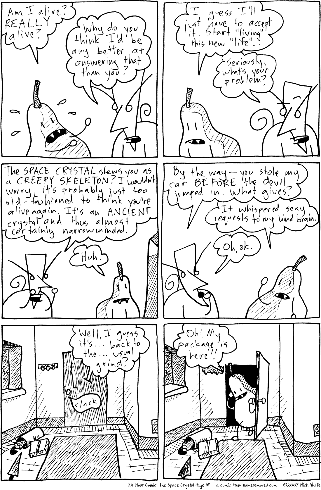 24 Hour Comic: The Space Crystal Page 18