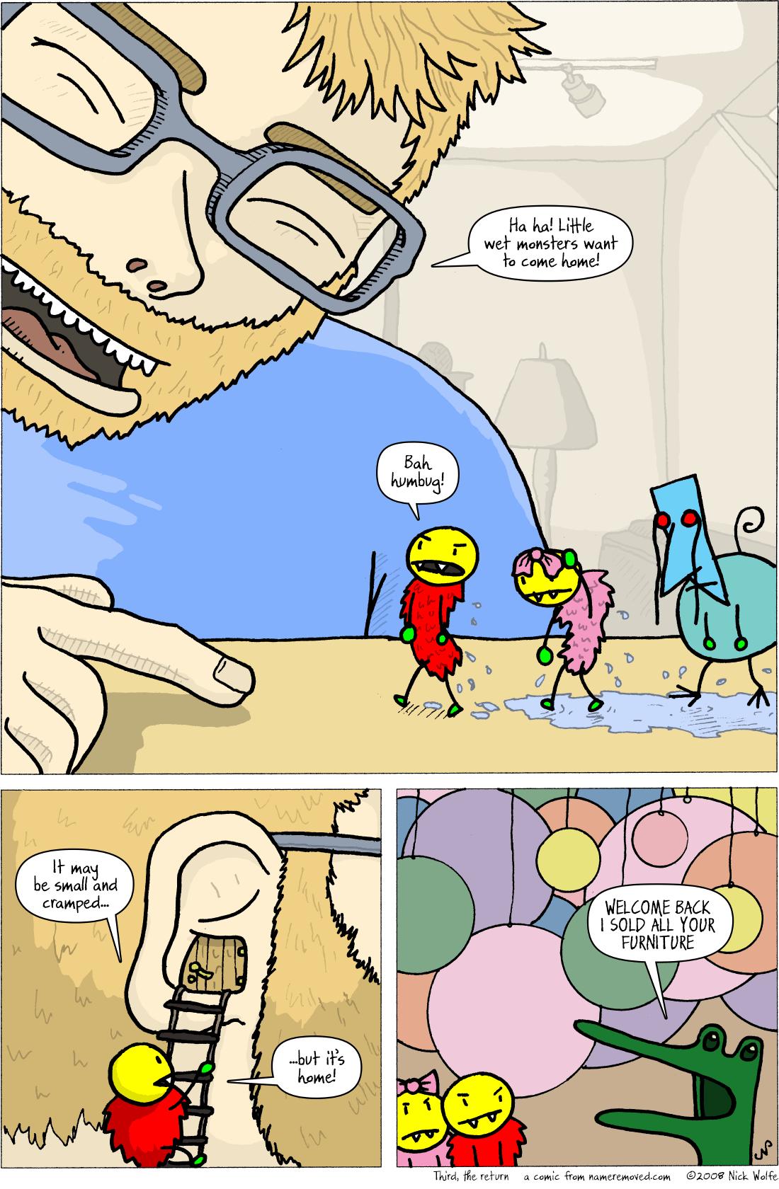 Third, the return