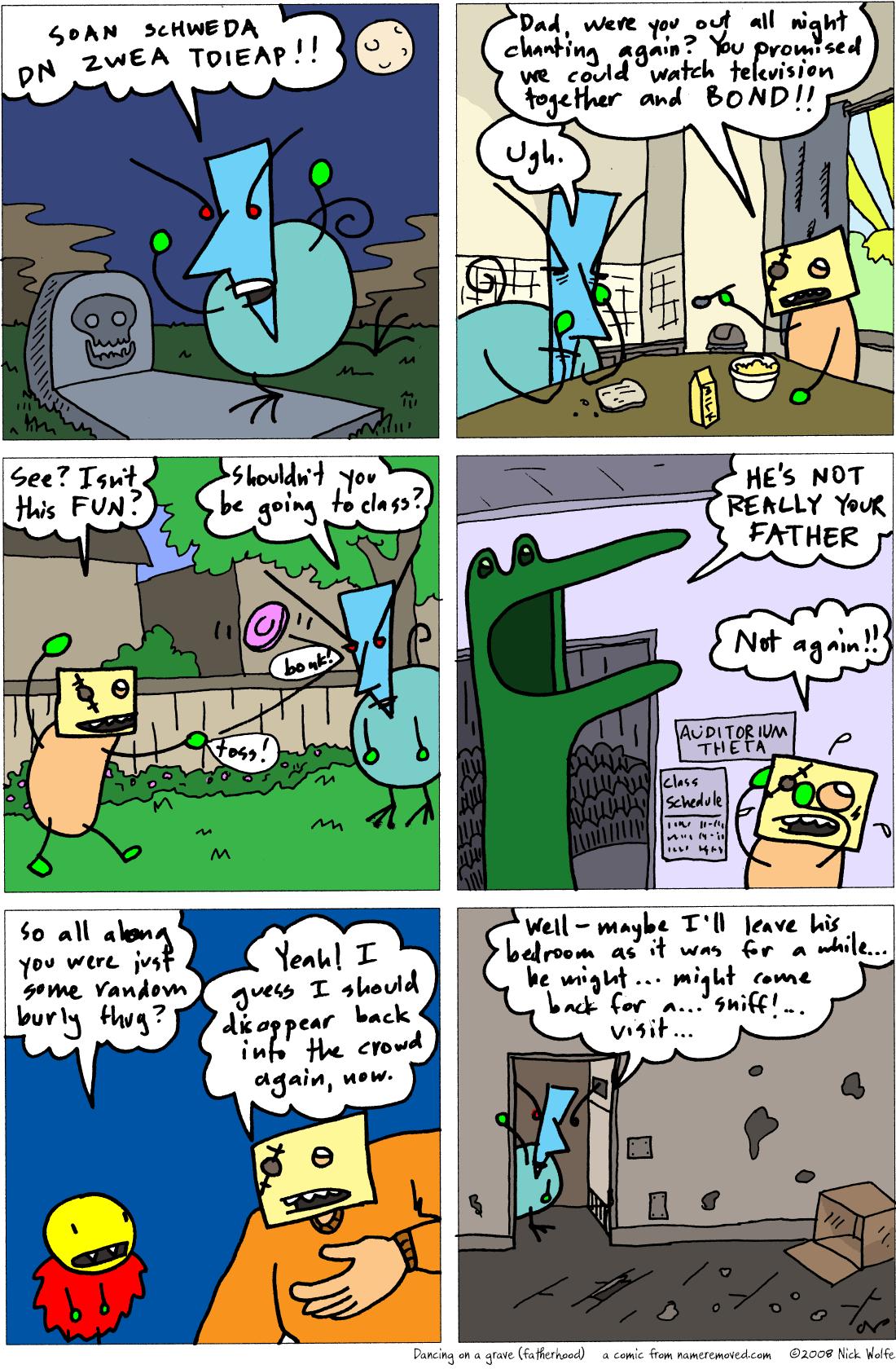 Dancing on a grave (fatherhood)