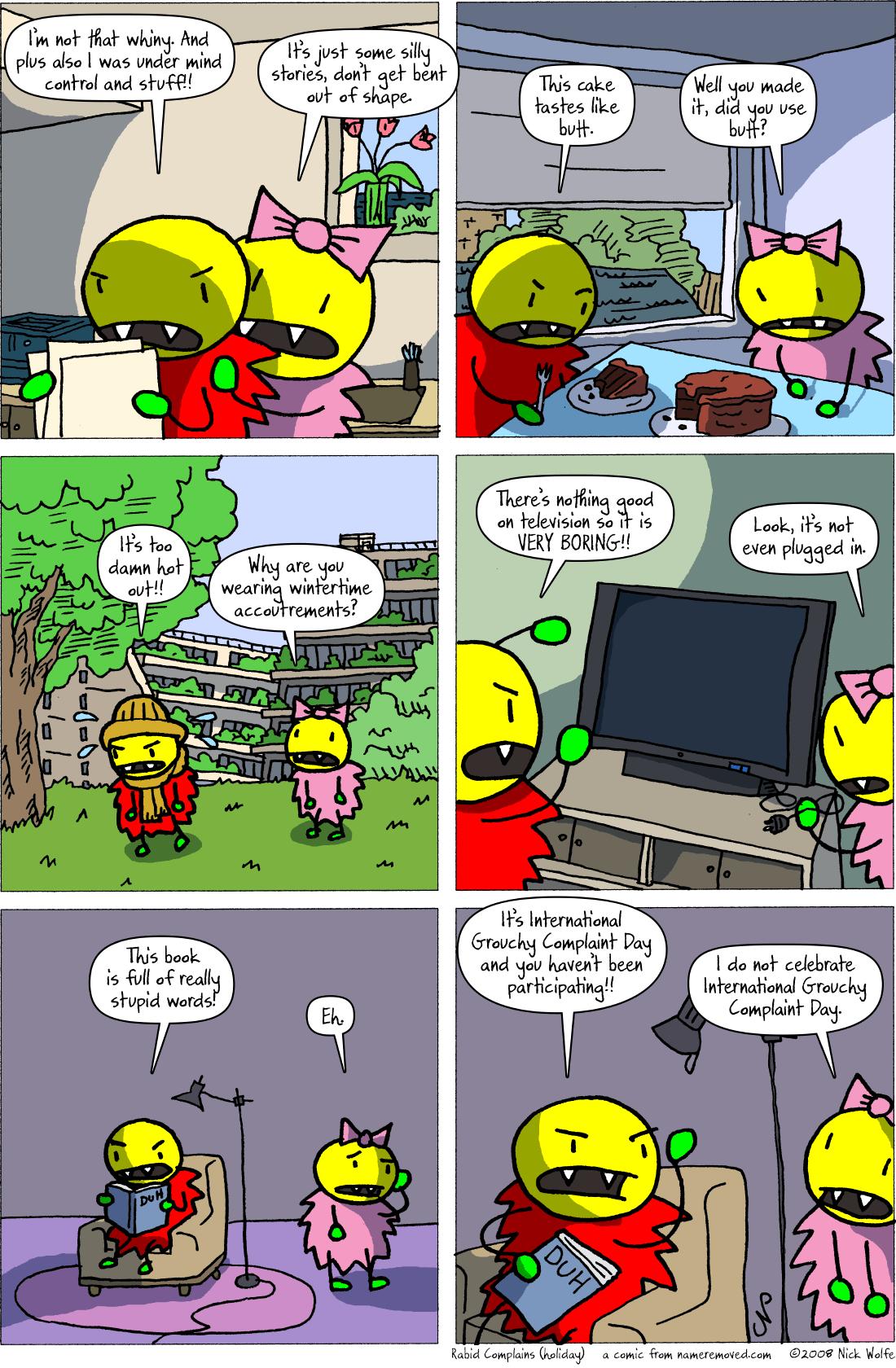 Rabid Complains (holiday)