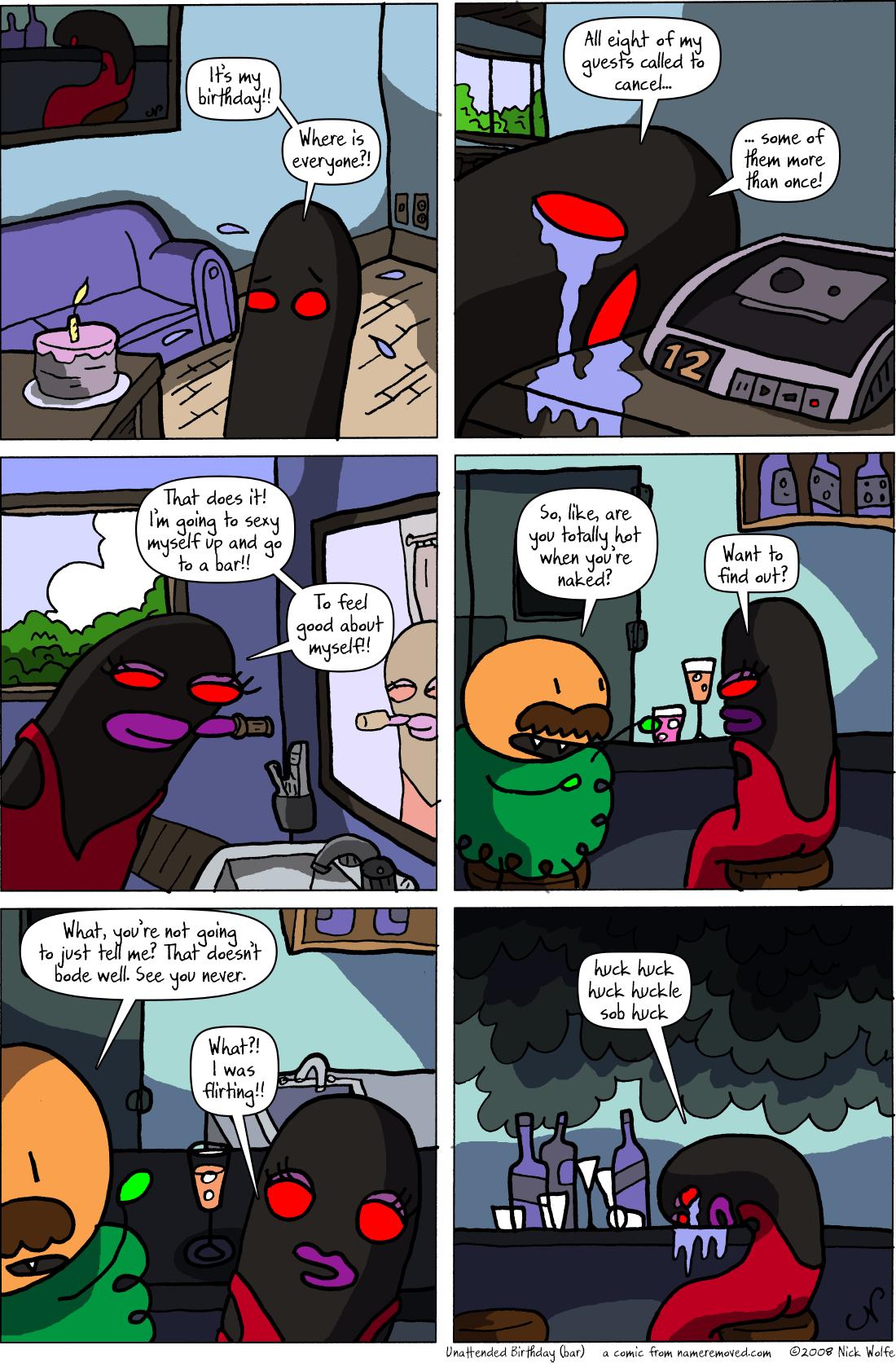 Unattended Birthday (bar)