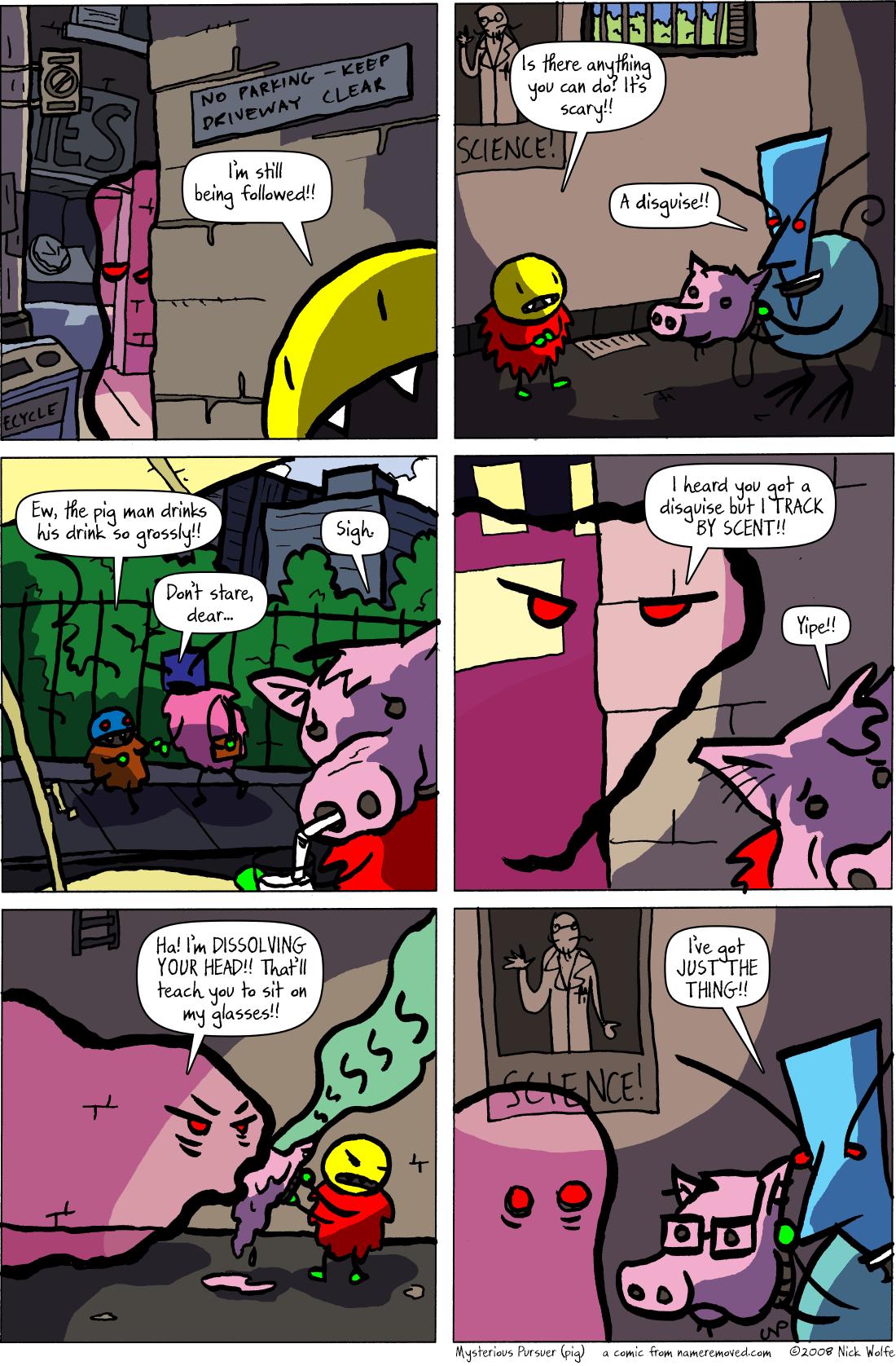 Mysterious Pursuer (pig)