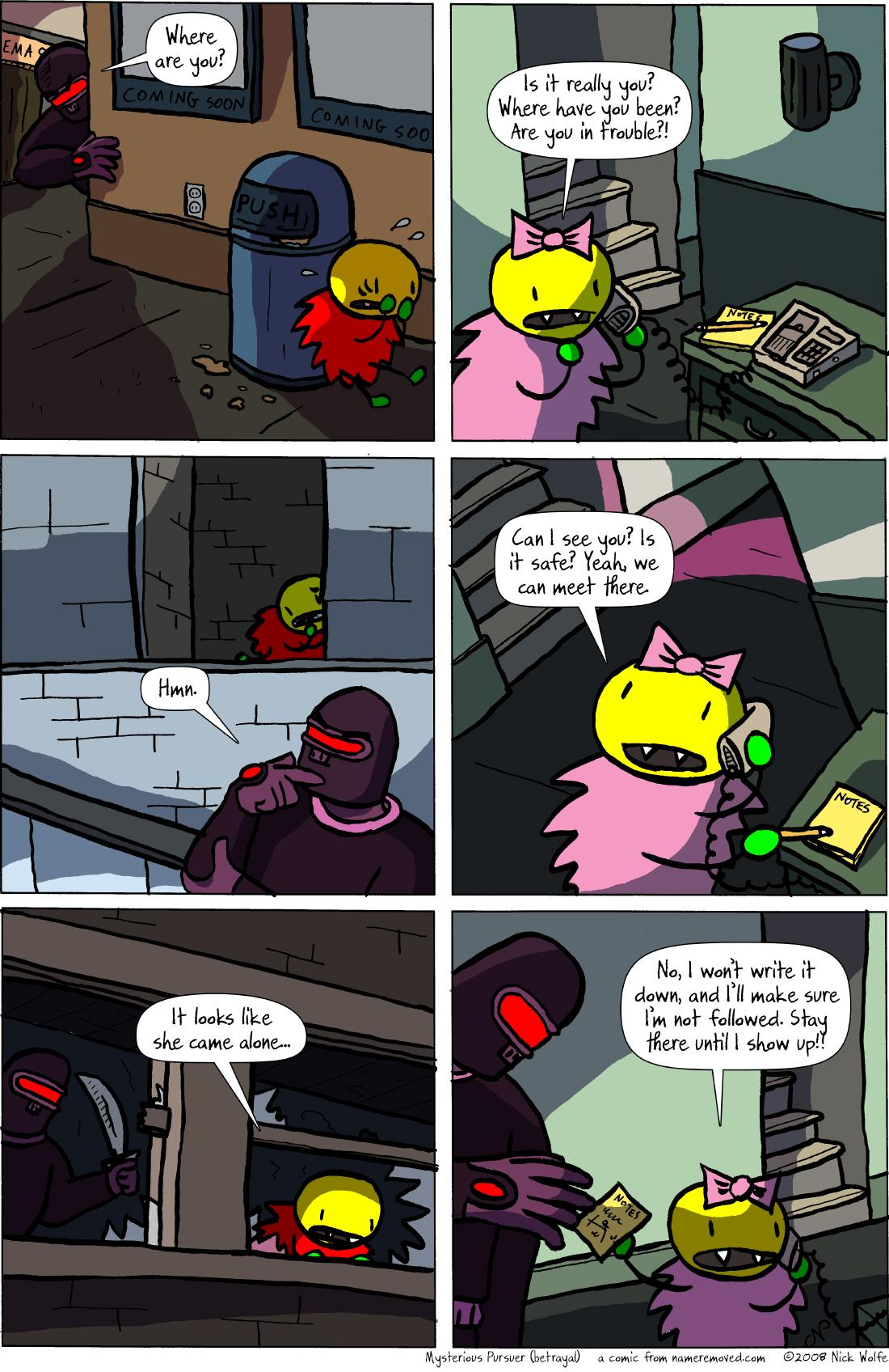 Mysterious Pursuer (betrayal)