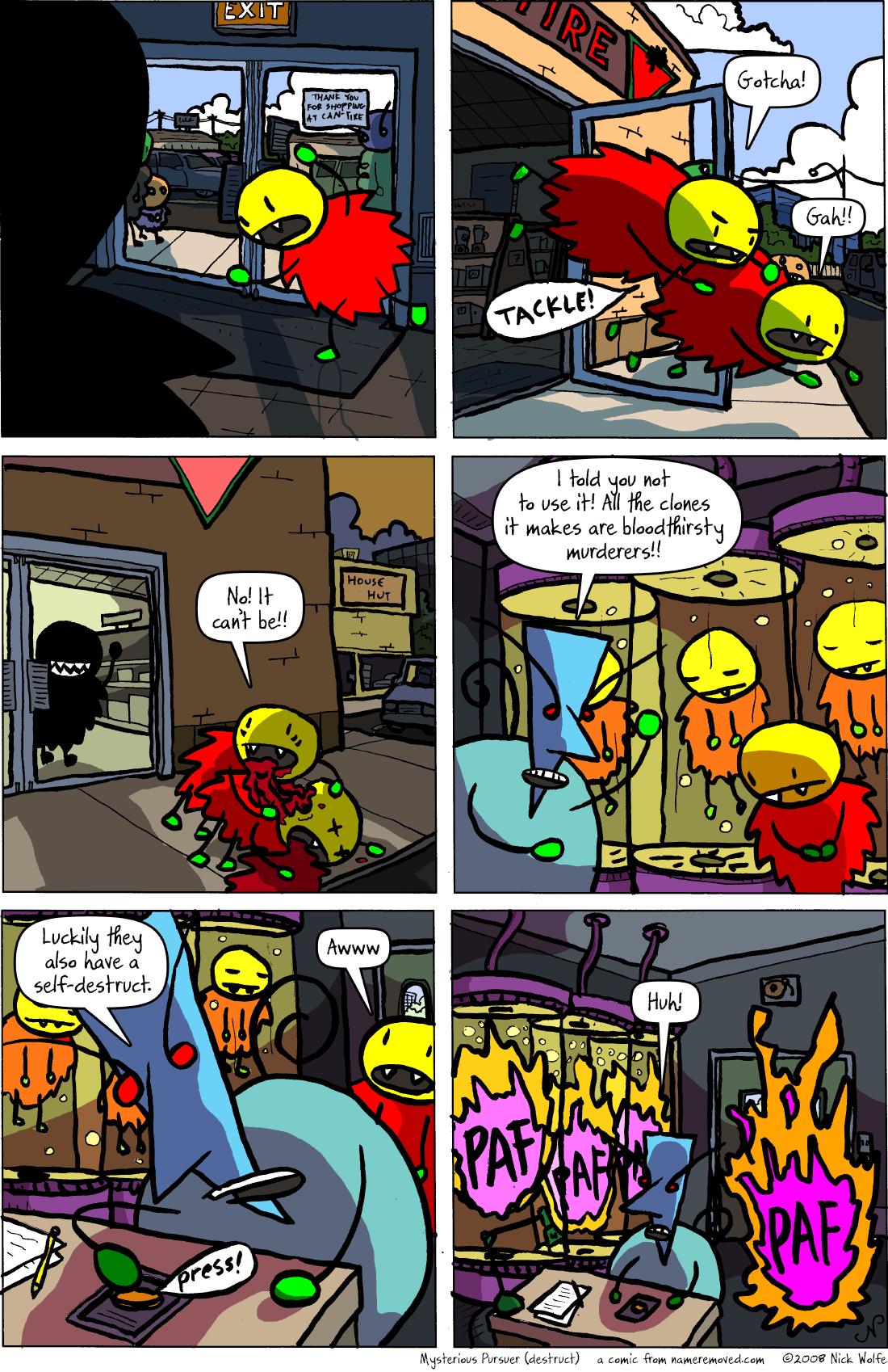 Mysterious Pursuer (destruct)