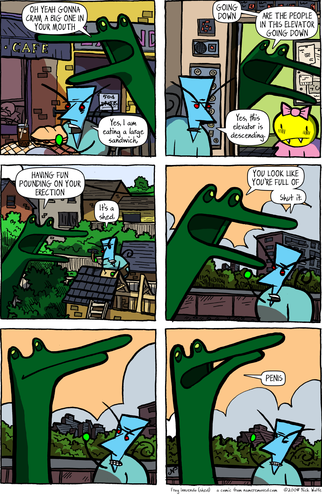 Frog Innuendo (shed)