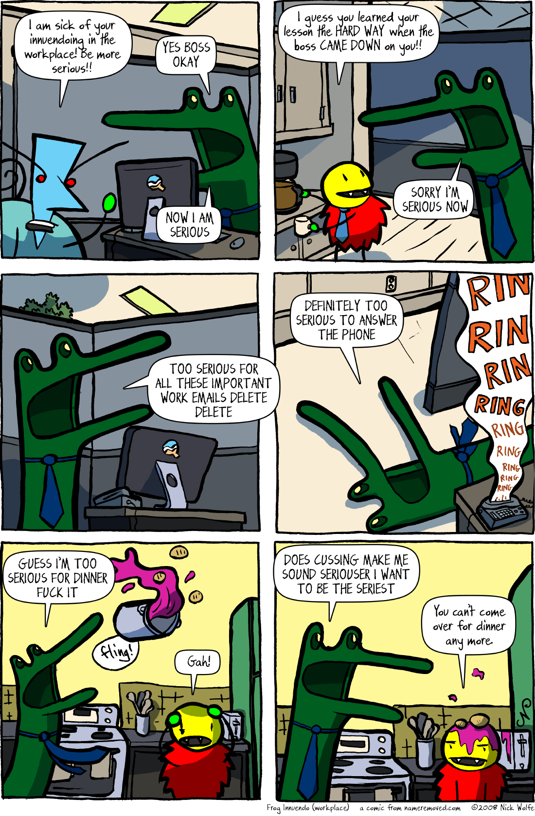 Frog Innuendo (workplace)