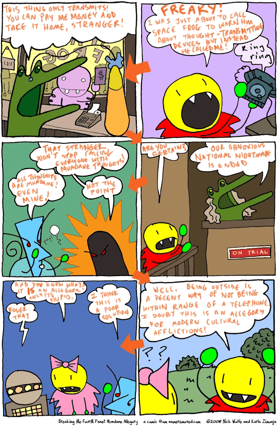 Breaking the Fourth Panel: Mundane Allegory