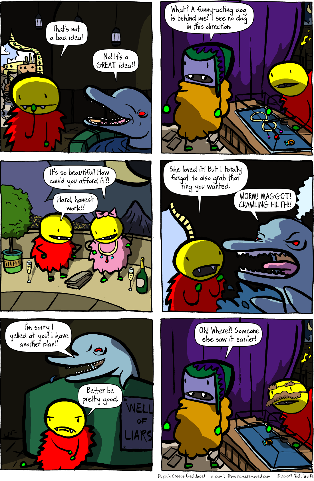 Dolphin Creeps (necklace)