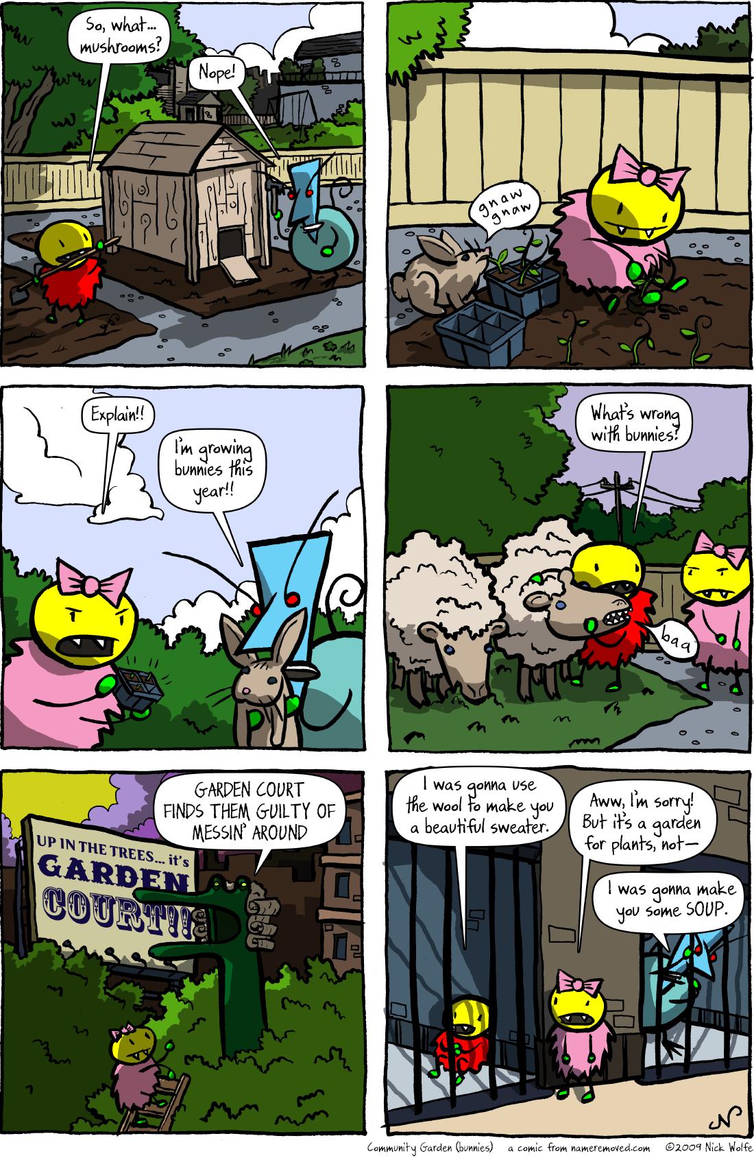 Community Garden (bunnies)