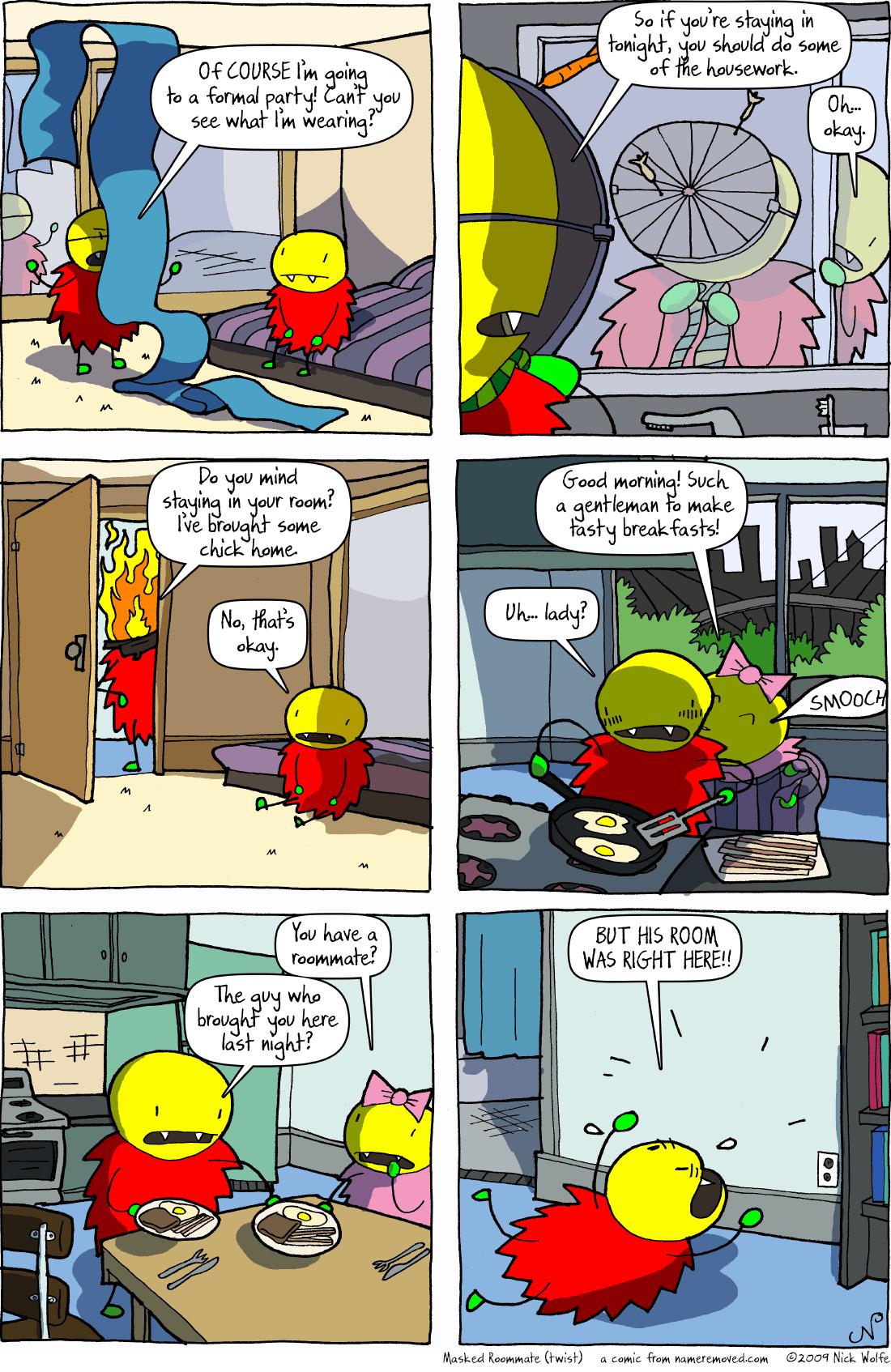 Masked Roommate (twist)