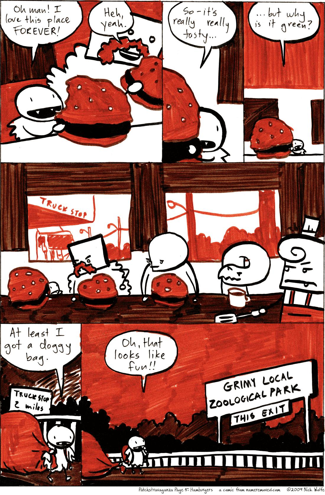 Patchstravaganza Page 5: Hamburgers