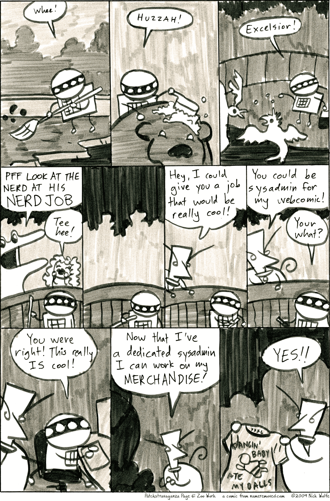 Patchstravaganza Page 6: Zoo Work