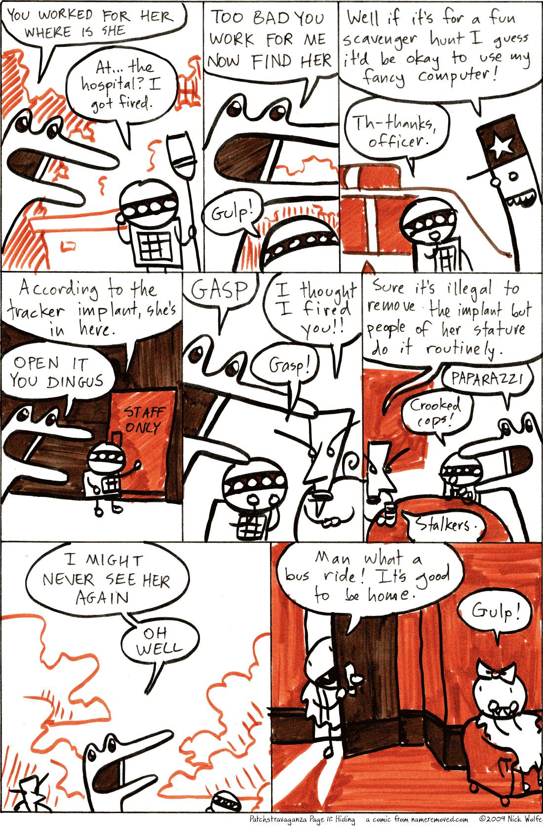 Patchstravaganza Page 11: Hiding