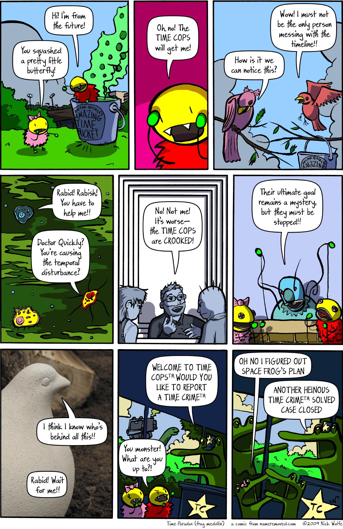 Time Paradox (frog meddlin')