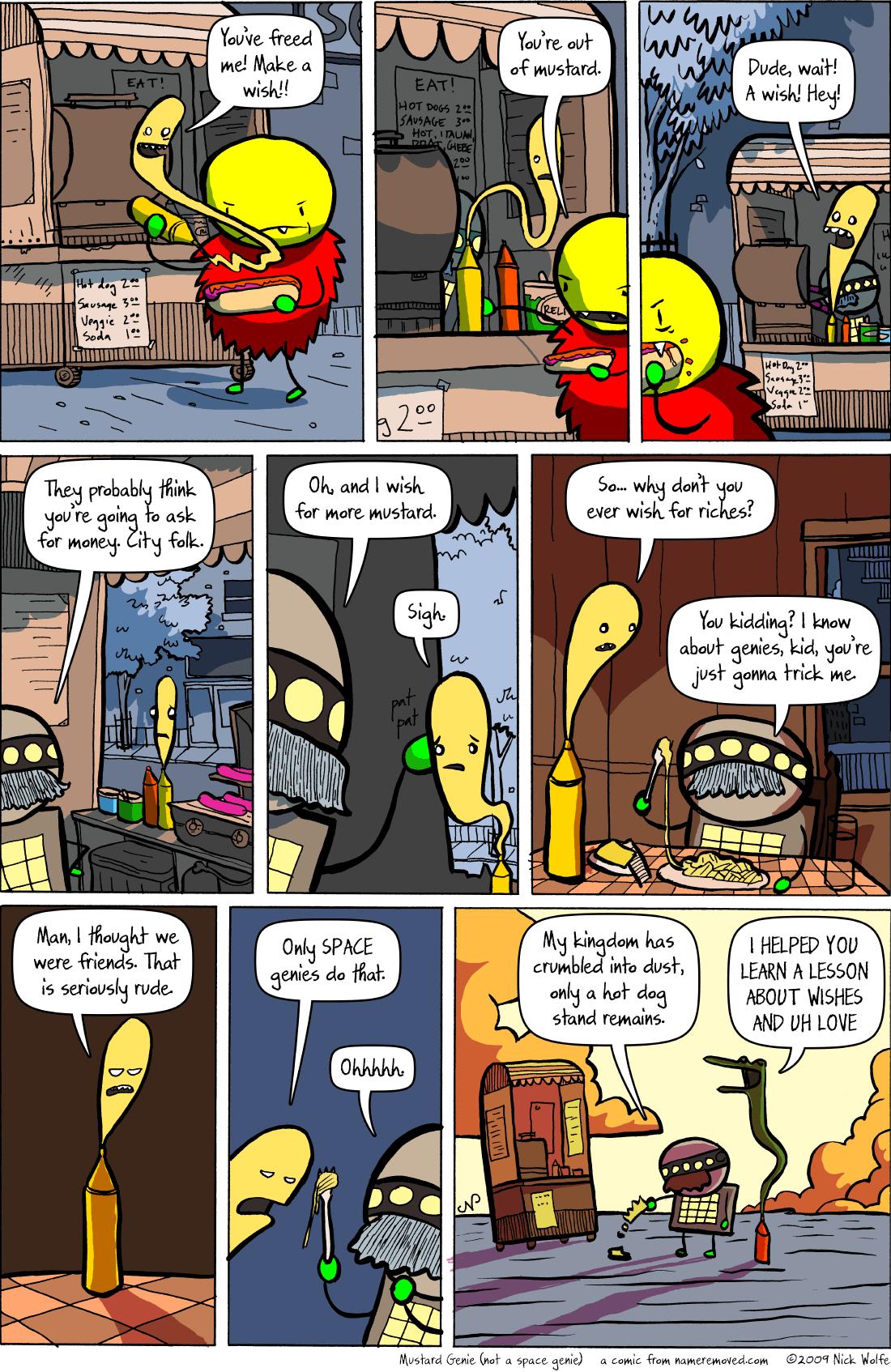 Mustard Genie (not a space genie)