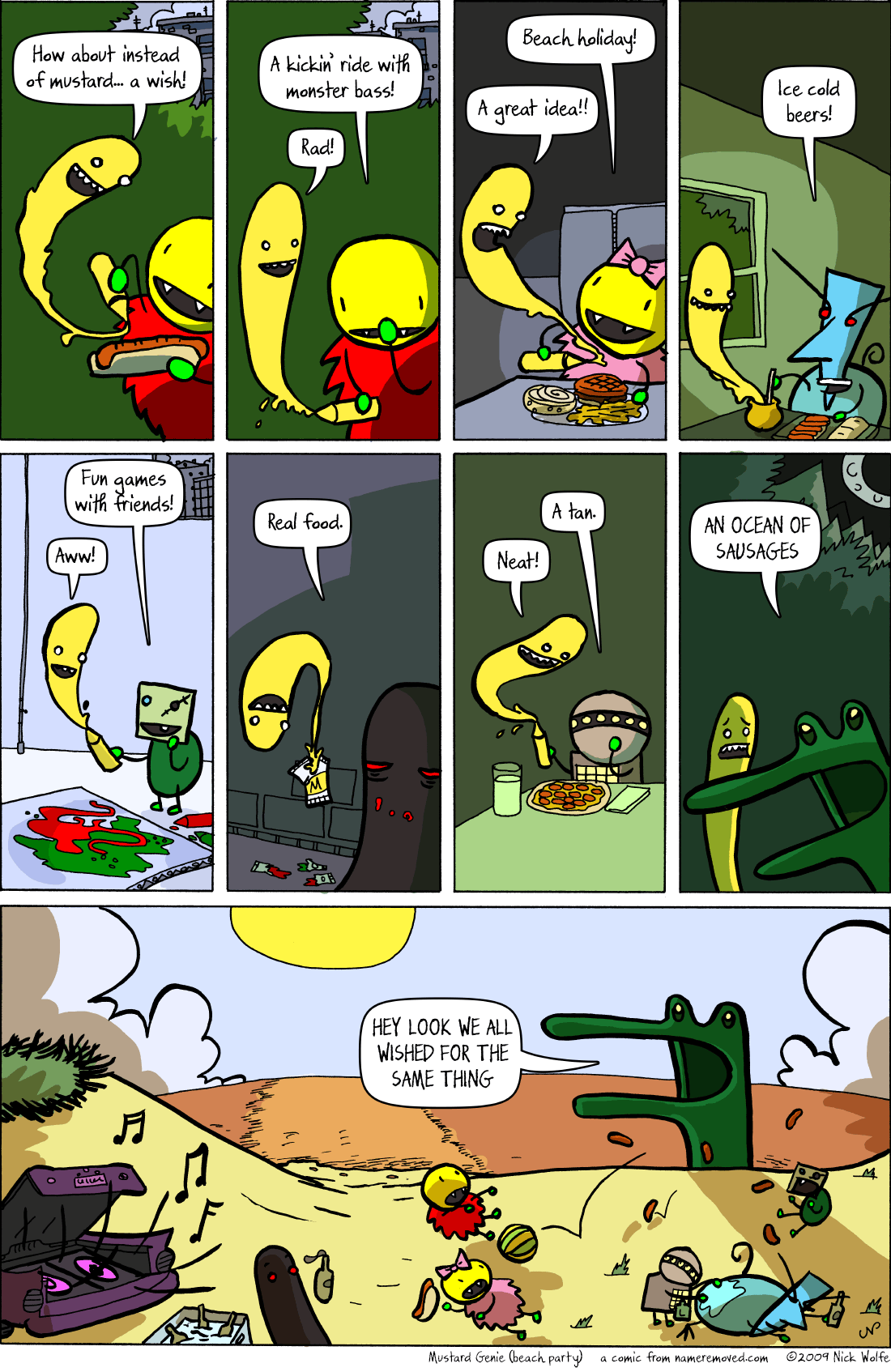 Mustard Genie (beach party)