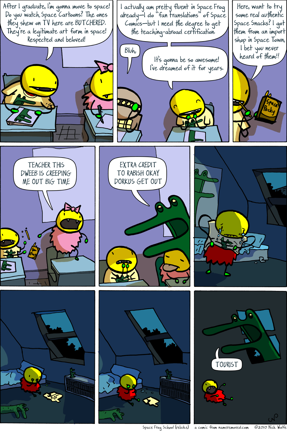 Space Frog School (rebuke)