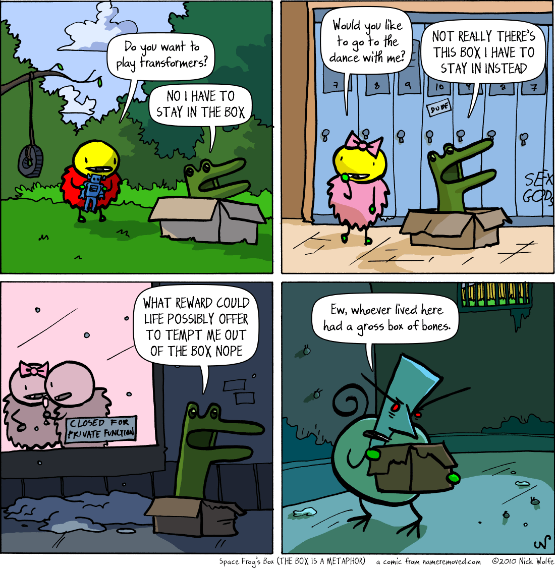 Space Frog's Box (THE BOX IS A METAPHOR)