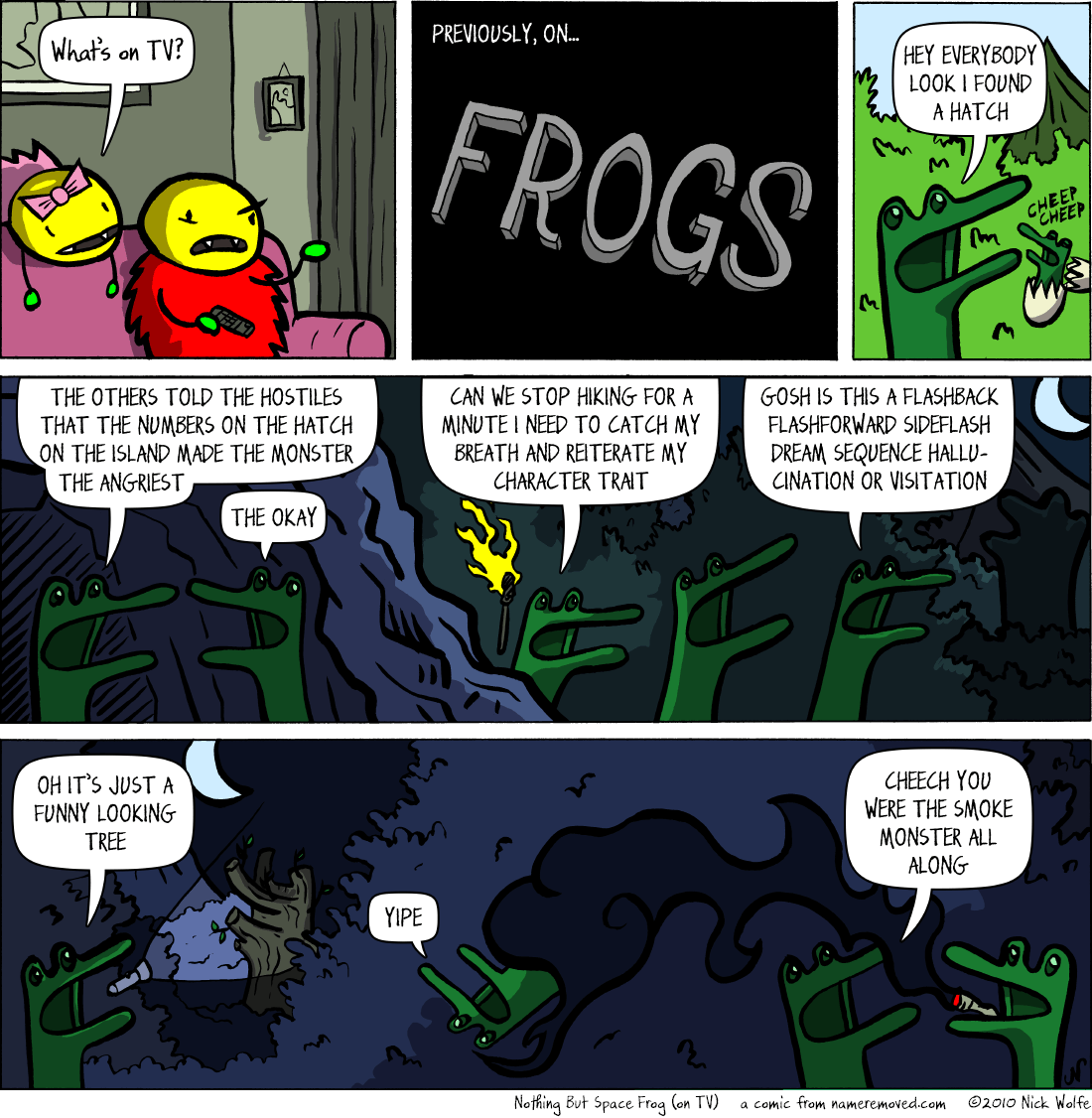 Nothing But Space Frog (on TV)