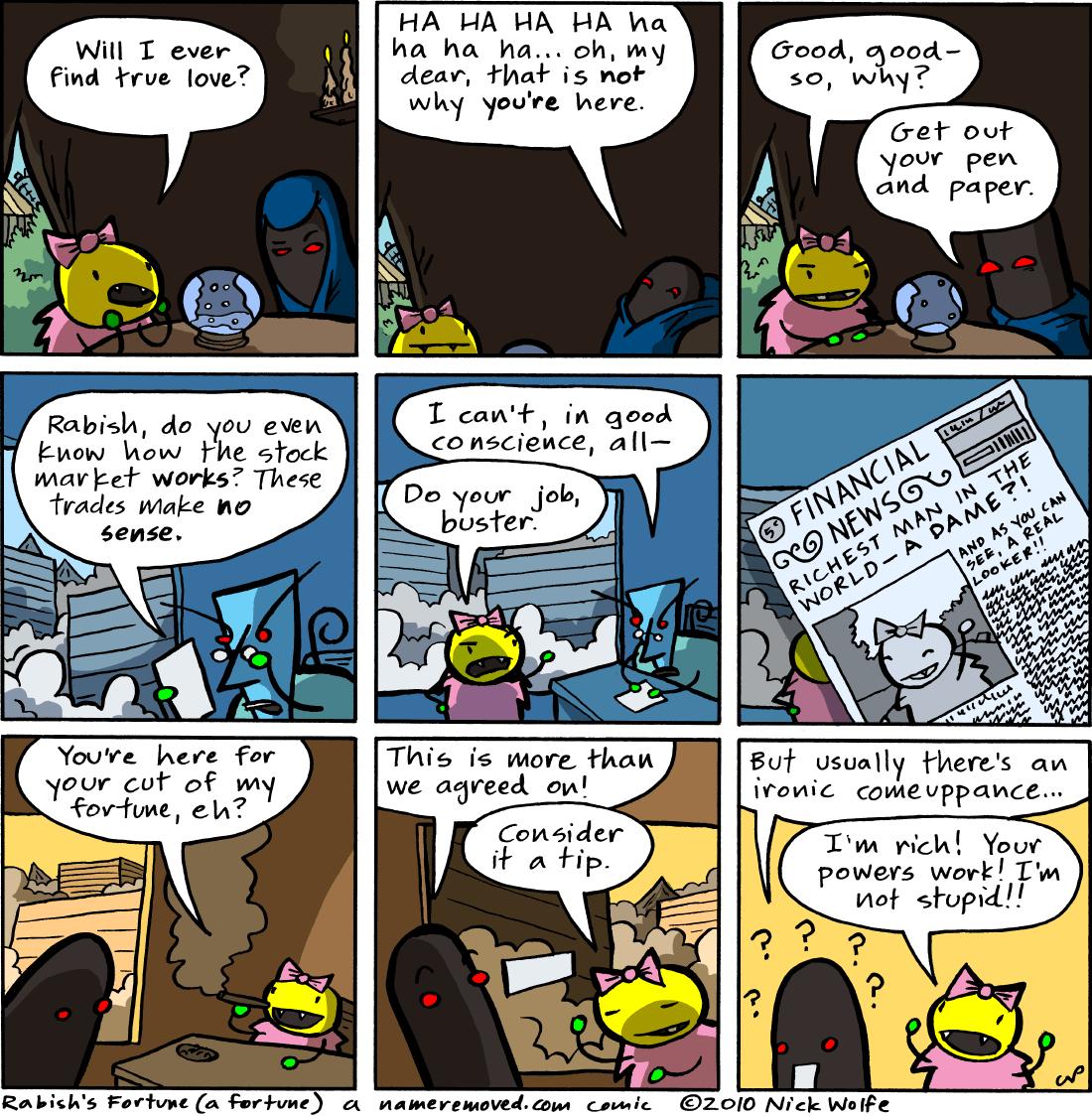Rabish's Fortune (a fortune)