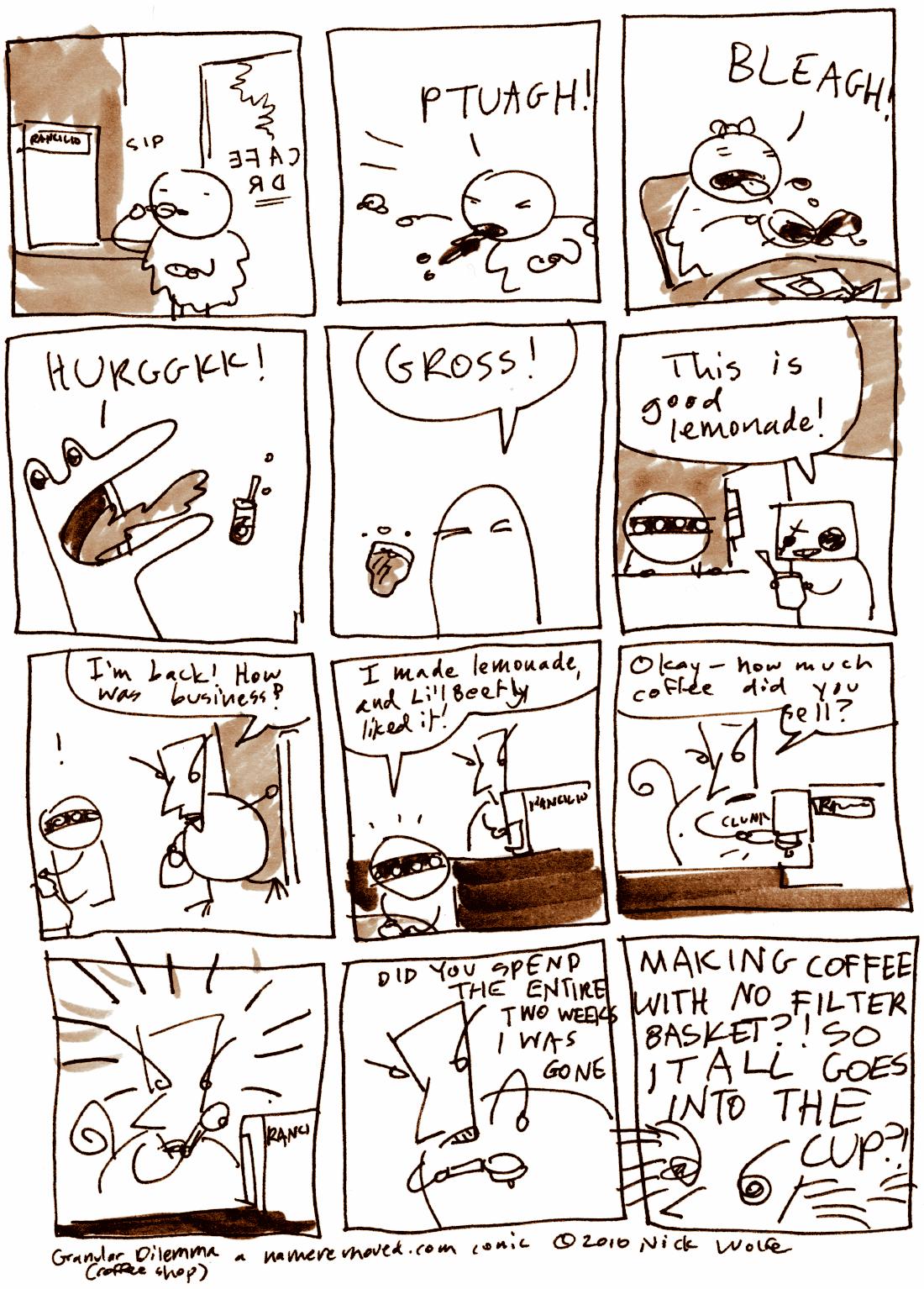 Granular Dilemma (coffee shop)