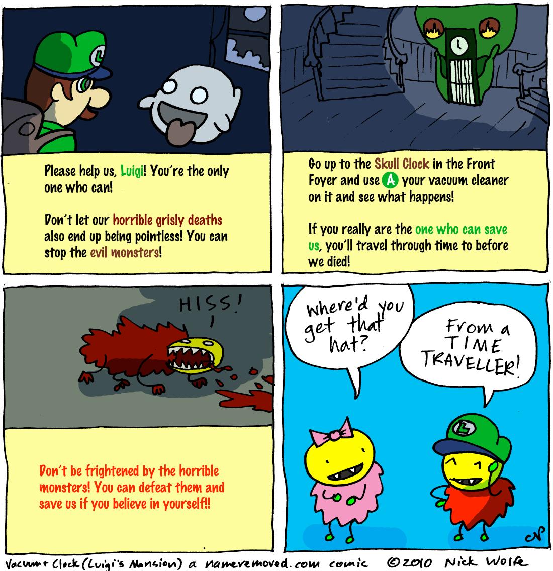 Vacuum and Clock (Luigi's Mansion)