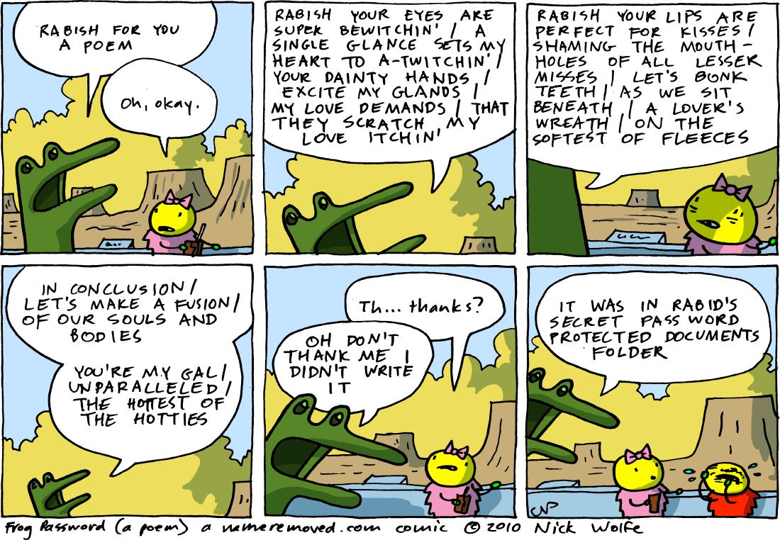 Frog Password (a poem)