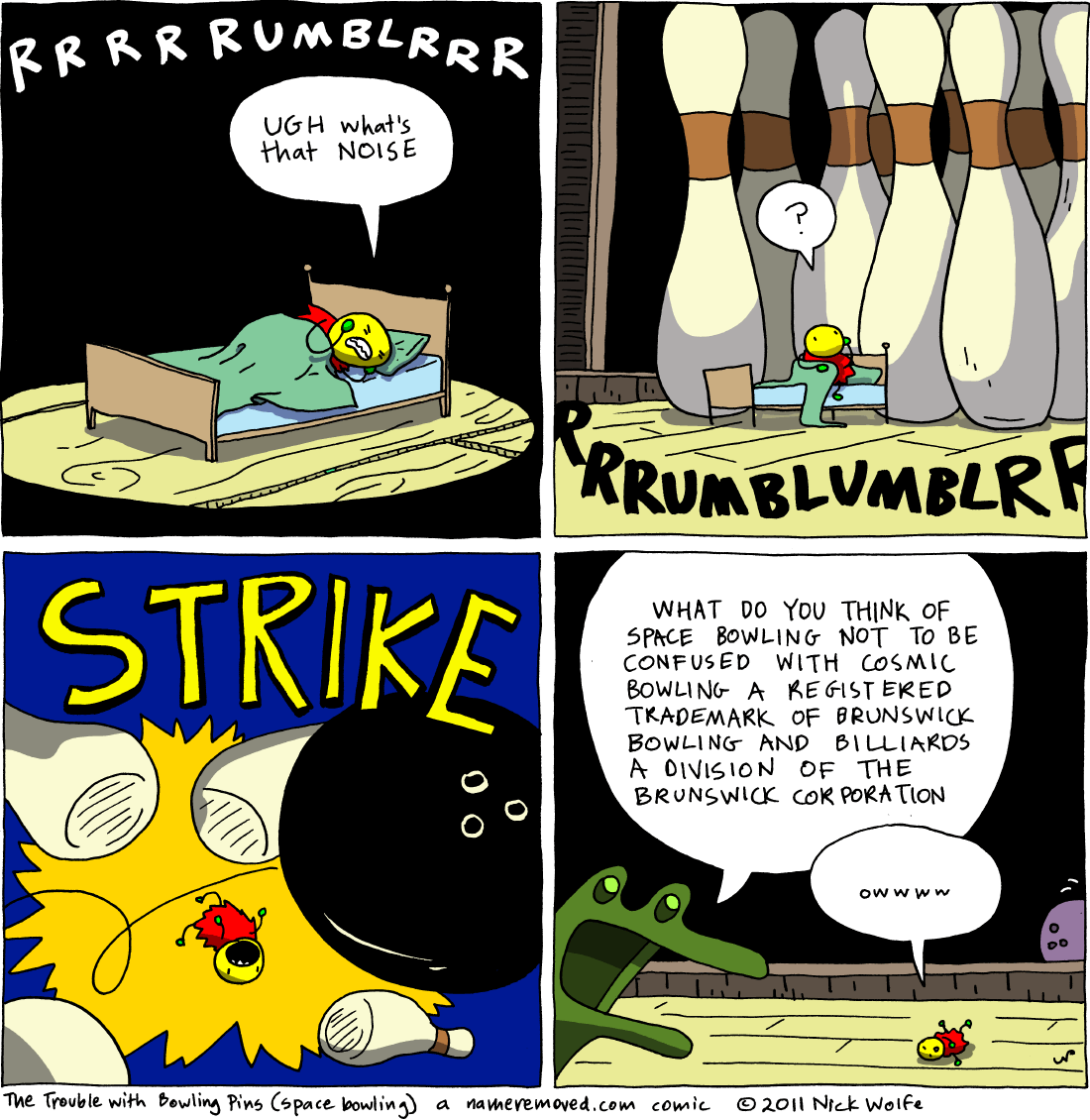 The Trouble With Bowling Pins (space bowling)